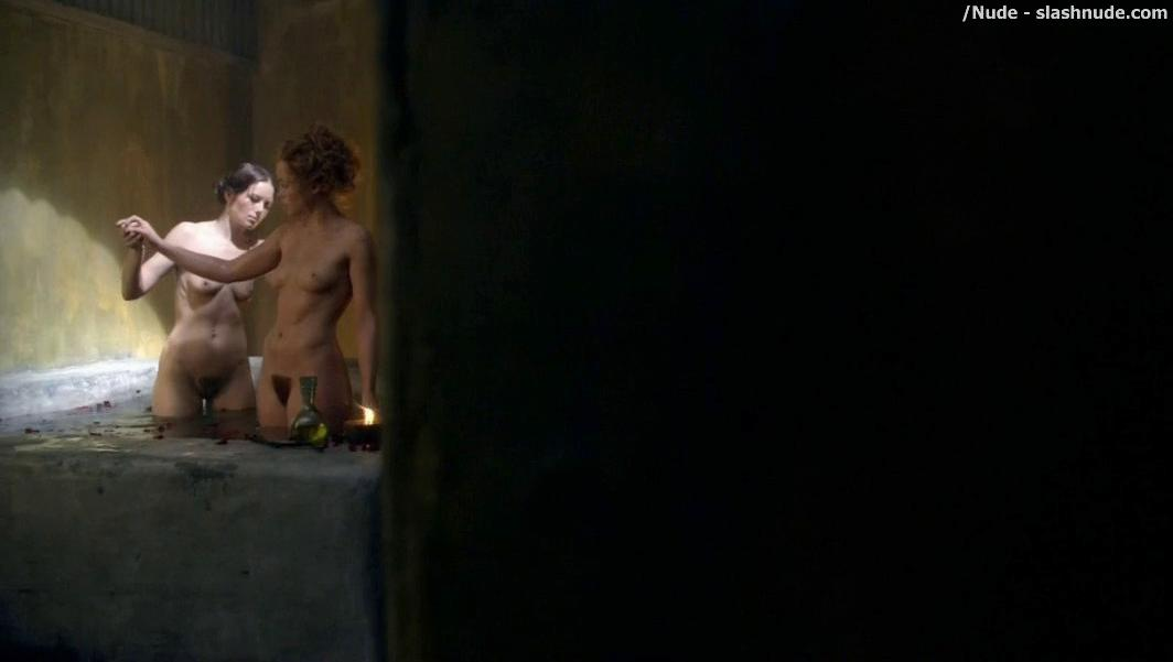 Anna Hutchison Nude For A Bath On Spartacus 3