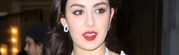 charli xcx breasts revealed in slip at music lunch 9768