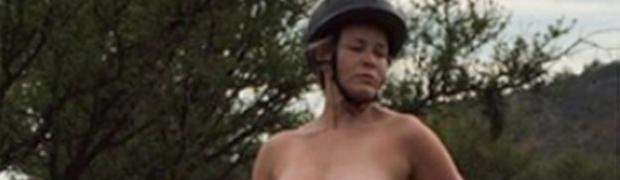 chelsea handler topless on a horse in instagram protest 9114