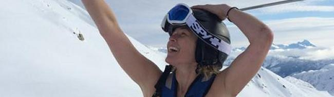 chelsea handler topless on snowy mountain ski trip 3260
