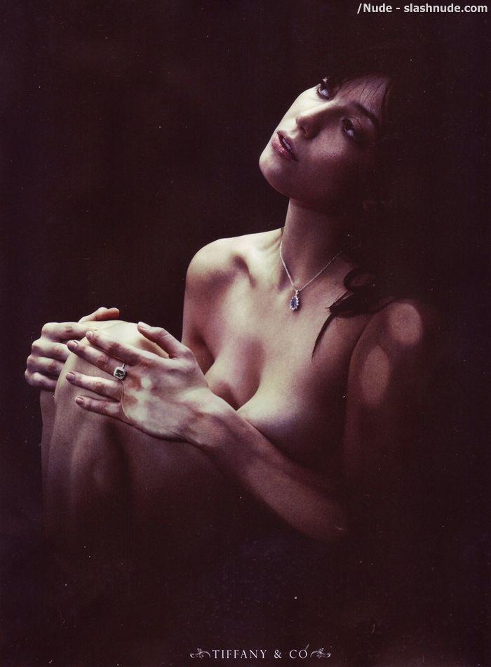 Daisy Lowe Topless Breasts Help Sell Jewelry 4