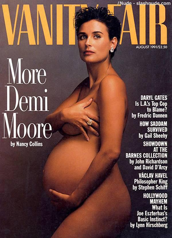 Demi Moore Naked And Pregnant In Vanity Fair 1