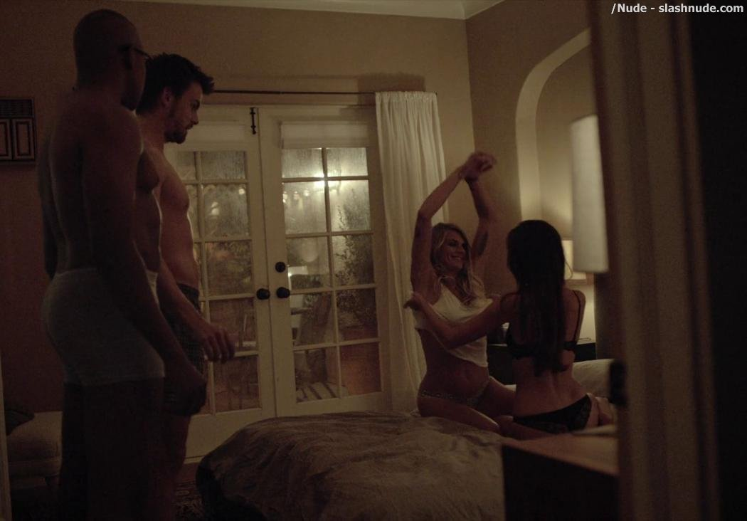 Eliza Coupe Teri Andrez Topless Together On Casual 3