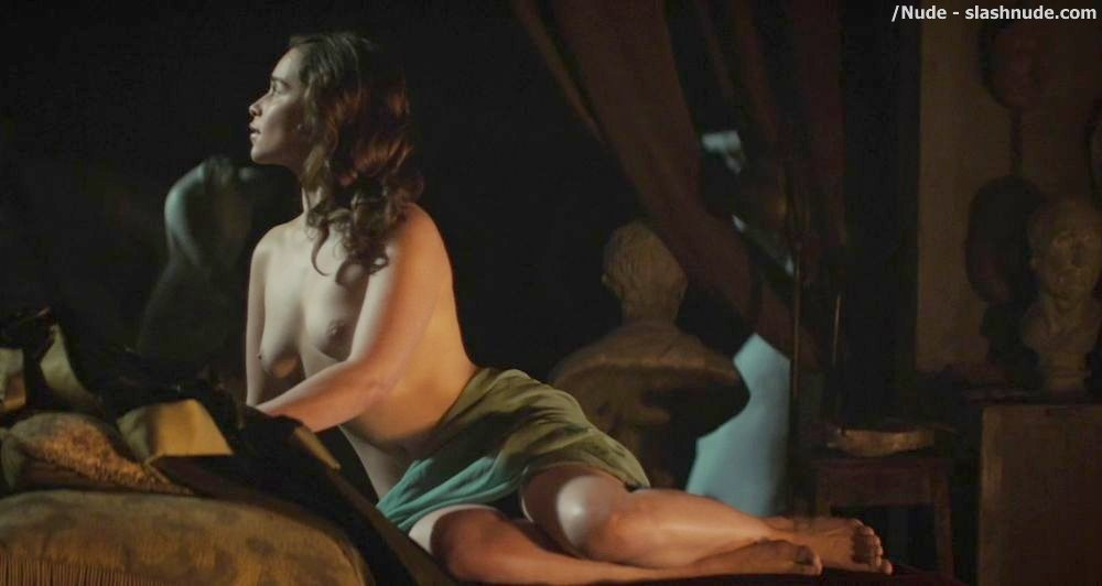 Emilia Clarke Topless In Voice From Stone 3