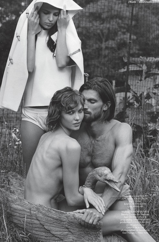 Karlie kloss topless