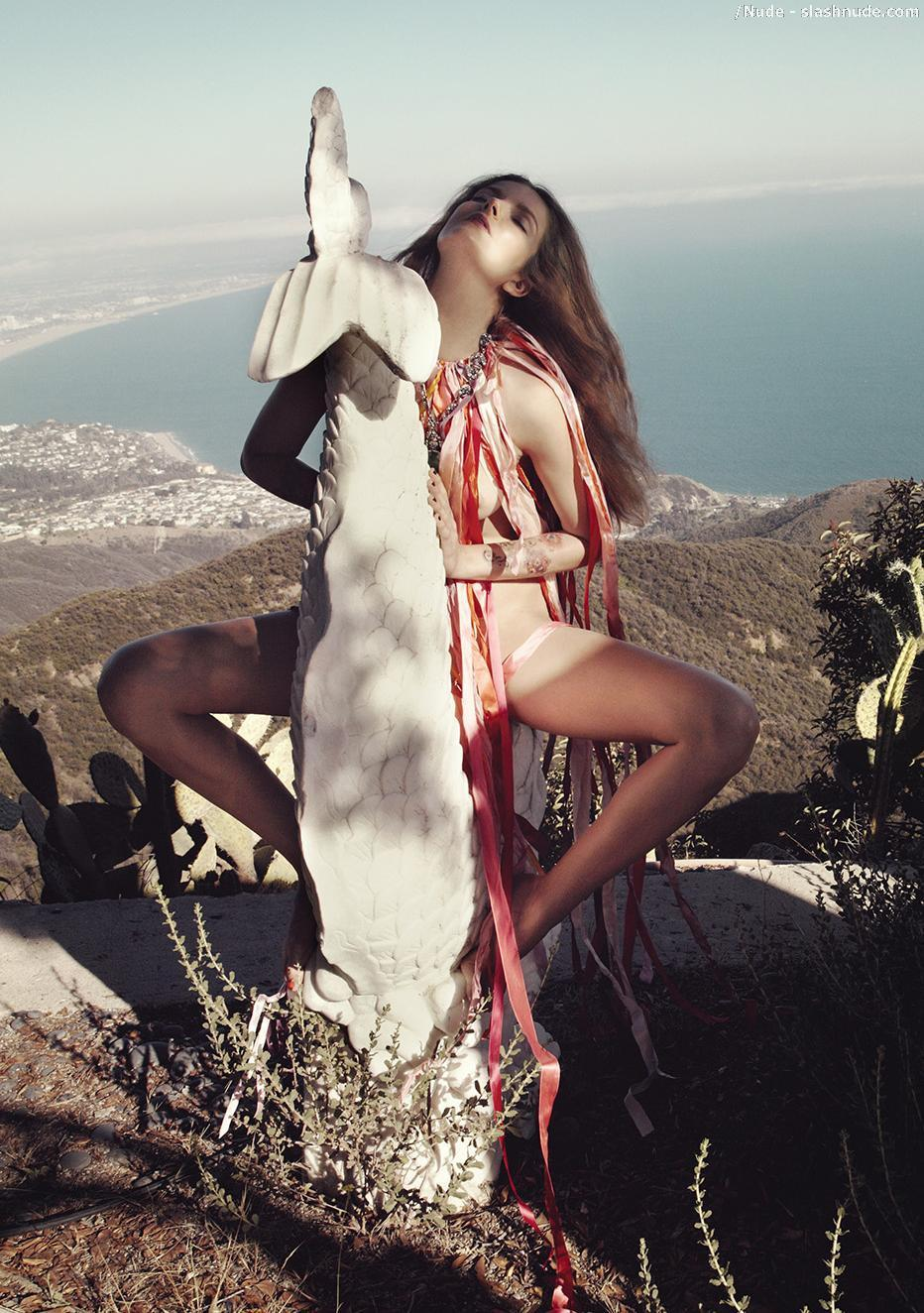 Eniko Mihalik Nude In Document Journal For Fall 2012 4