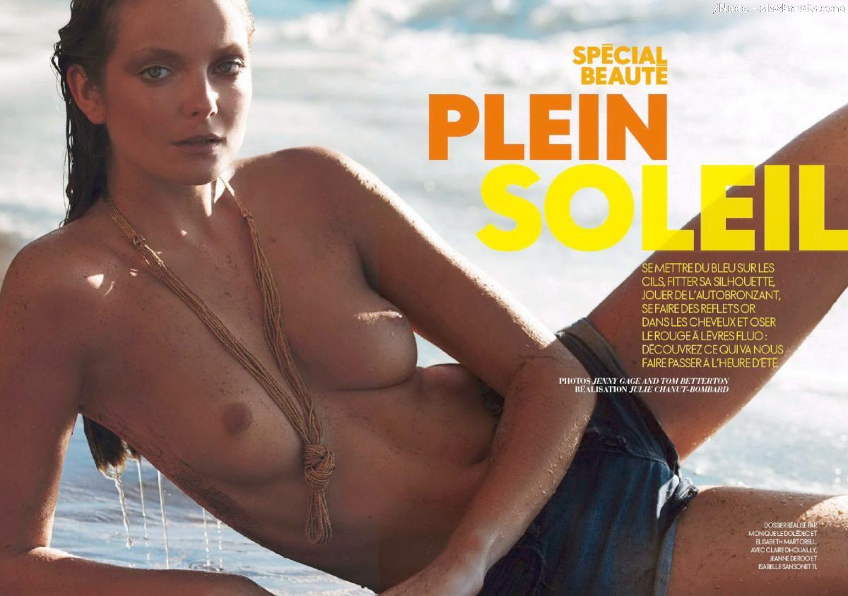 Eniko Mihalik Topless For A Closeup In Elle France 13