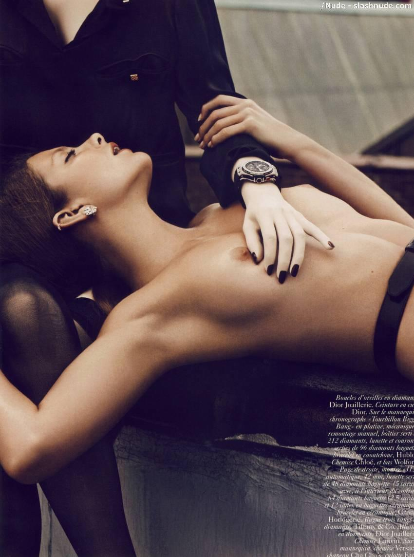 Eniko Mihalik Topless Nipples All The Vogue 6