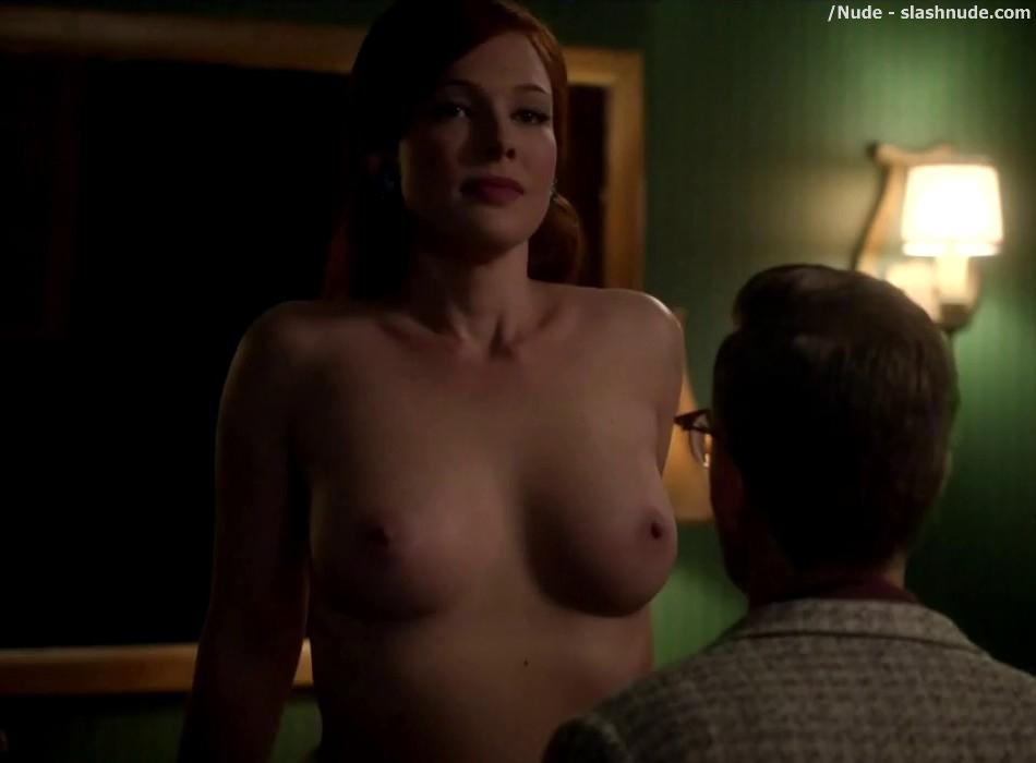 Erin Cummings Topless Breasts Unleashed On Masters Of Sex 15