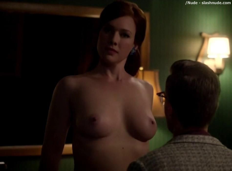 Erin Cummings Topless Breasts Unleashed On Masters Of Sex 16
