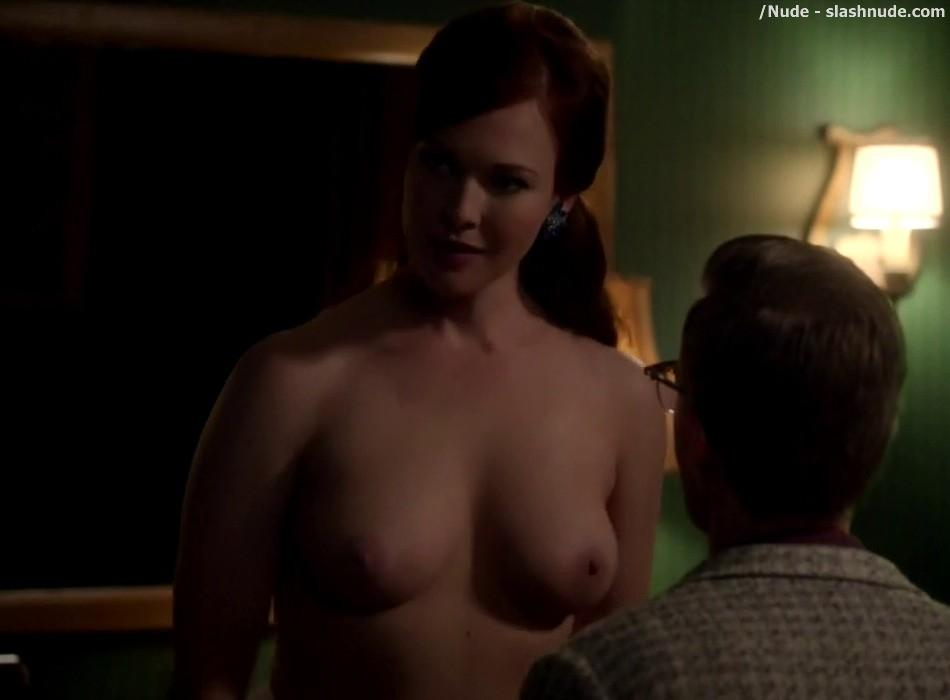 Erin Cummings Topless Breasts Unleashed On Masters Of Sex 18