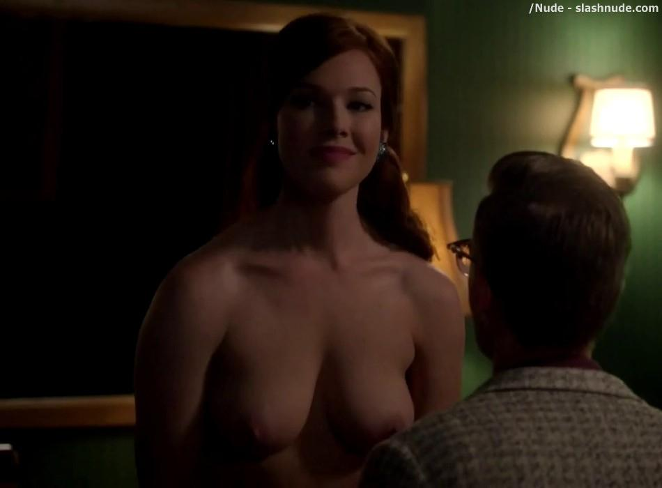 Erin Cummings Topless Breasts Unleashed On Masters Of Sex 19