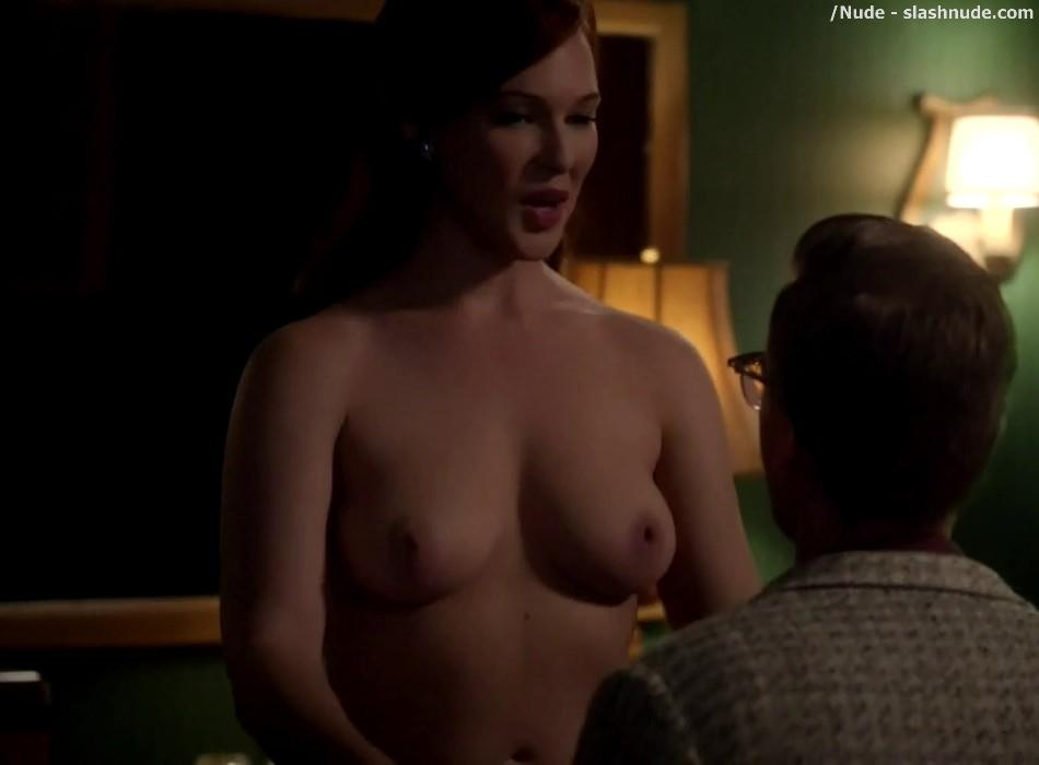 Erin Cummings Topless Breasts Unleashed On Masters Of Sex 20