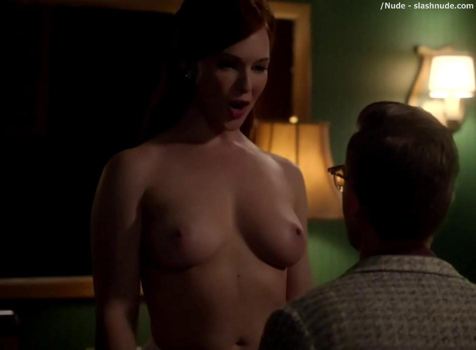 Erin Cummings Topless Breasts Unleashed On Masters Of Sex 21