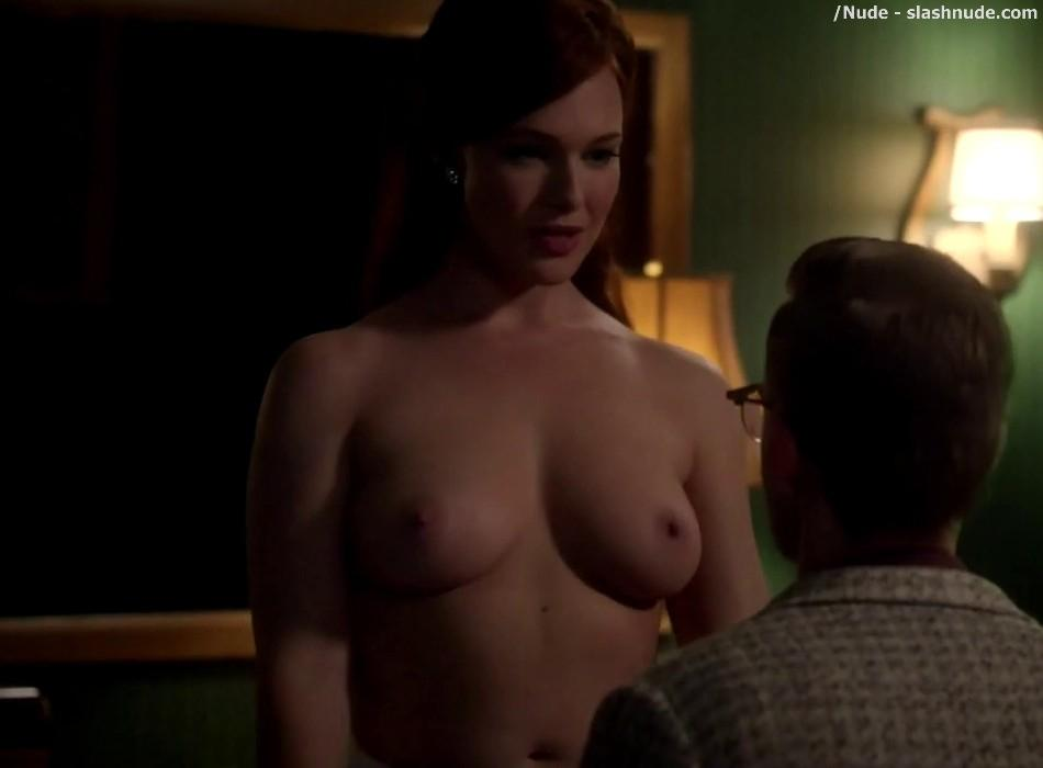 Erin Cummings Topless Breasts Unleashed On Masters Of Sex 23
