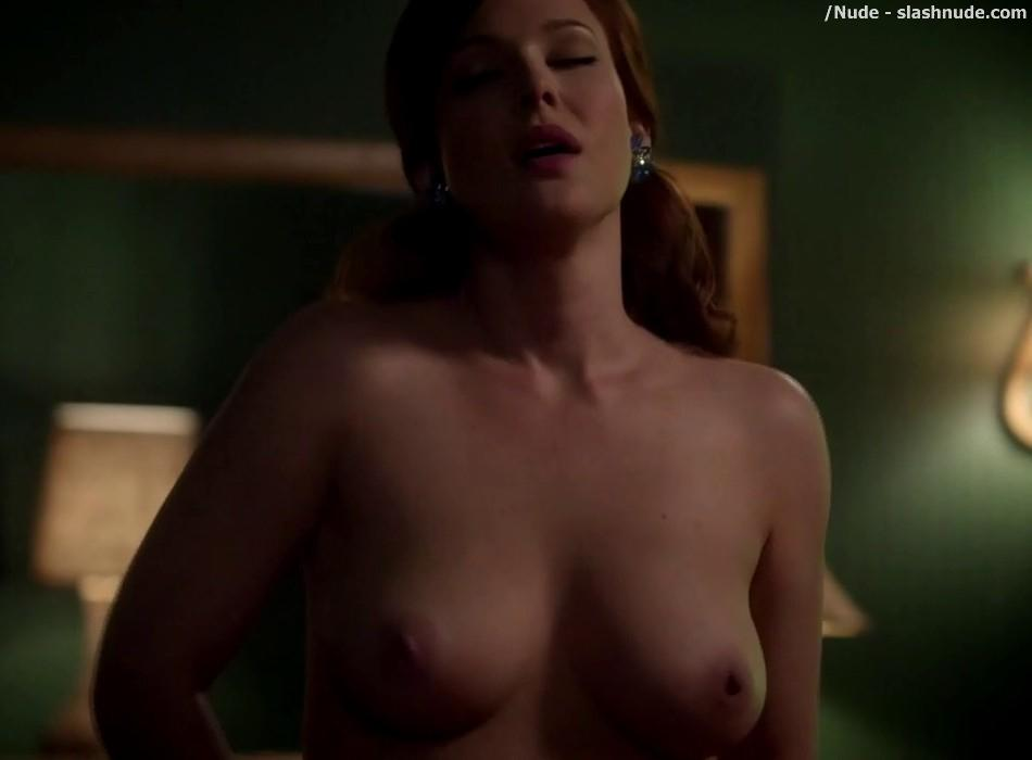 Erin Cummings Topless Breasts Unleashed On Masters Of Sex 32