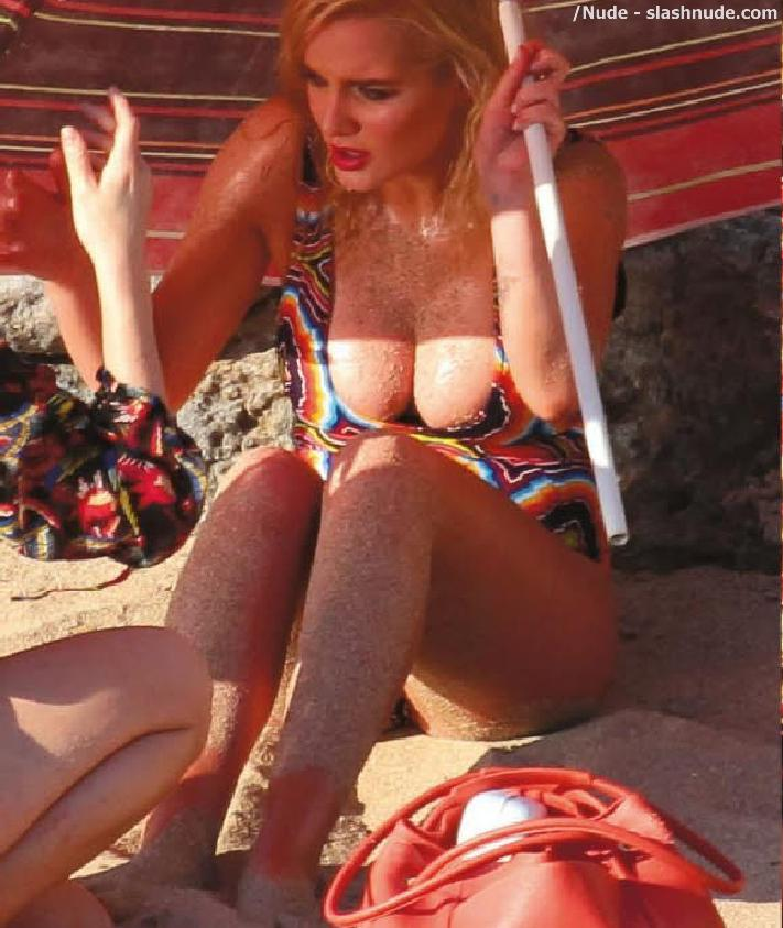 Helen Flanagan Topless Breasts Revealed In Malfunction 5