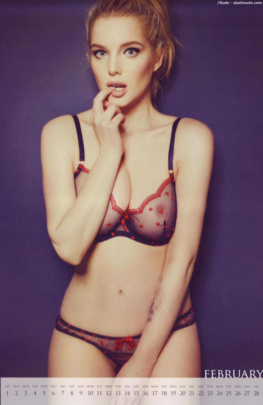 Helen Flanagan Topless Nipples Come Out For Calendar 2