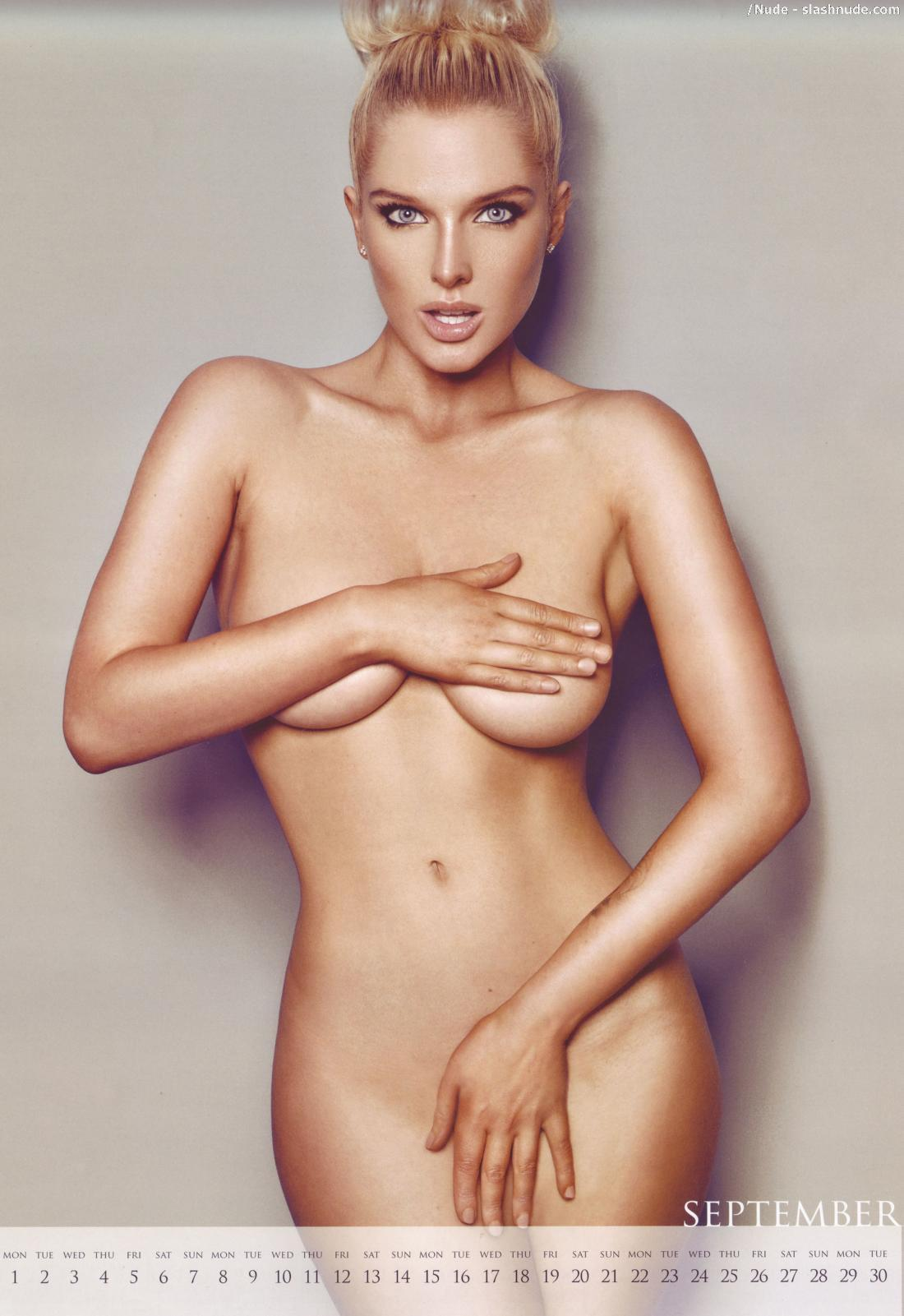 Helen Flanagan Topless Nipples Come Out For Calendar 8