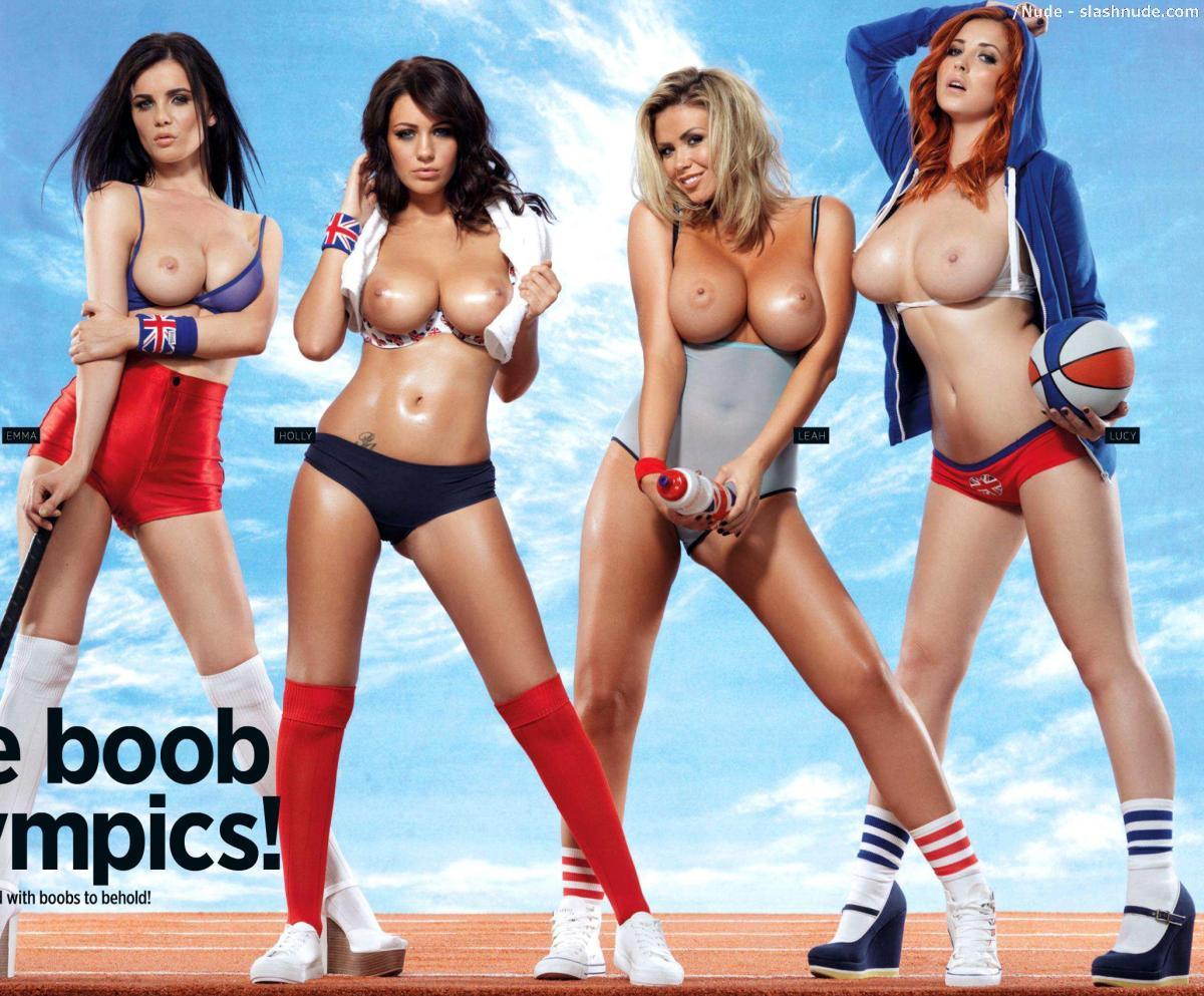 Holly Peers Lucy Collett Emma Glover Leah Francis Topless Olympics 1