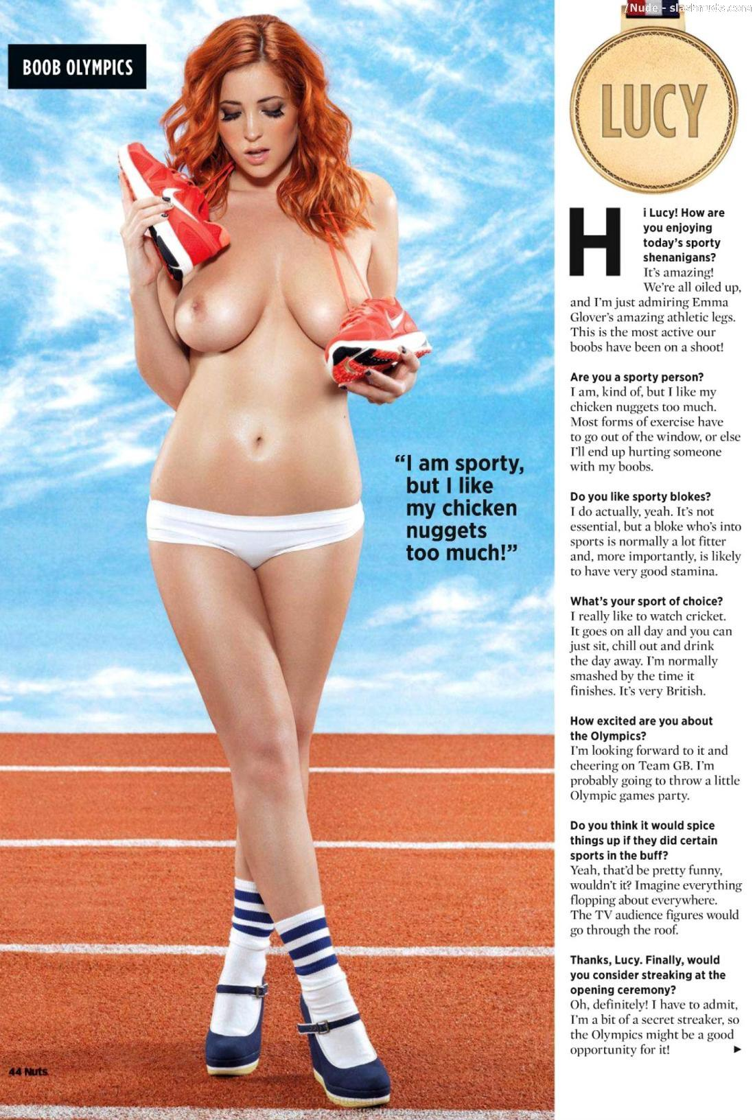 Holly Peers Lucy Collett Emma Glover Leah Francis Topless Olympics 4