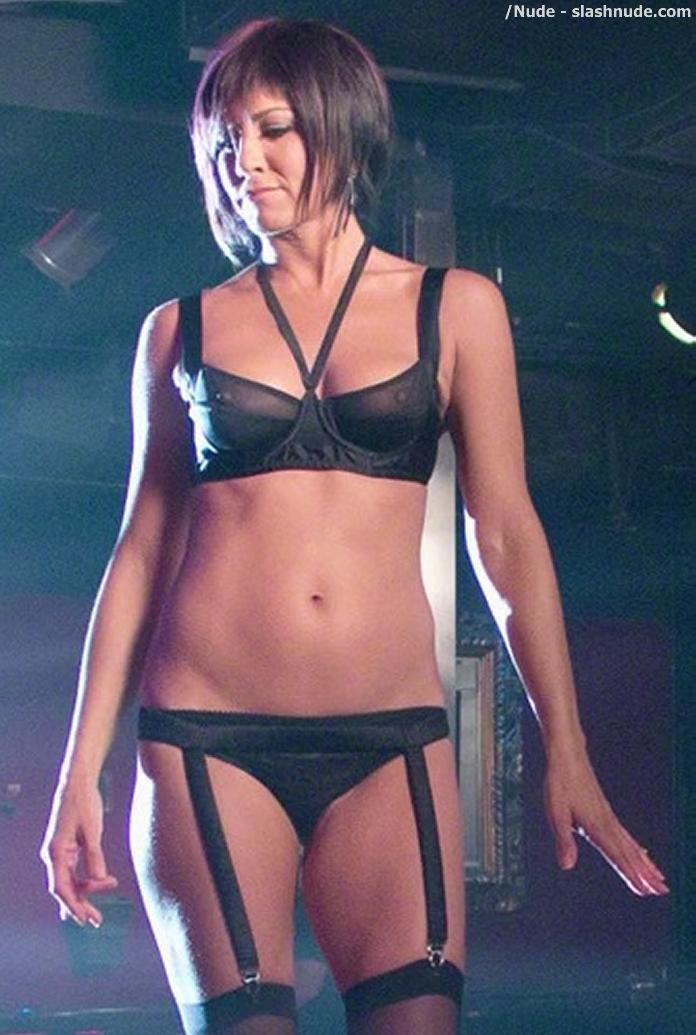 Jennifer Aniston Nipples See Through Bra Stripper 2