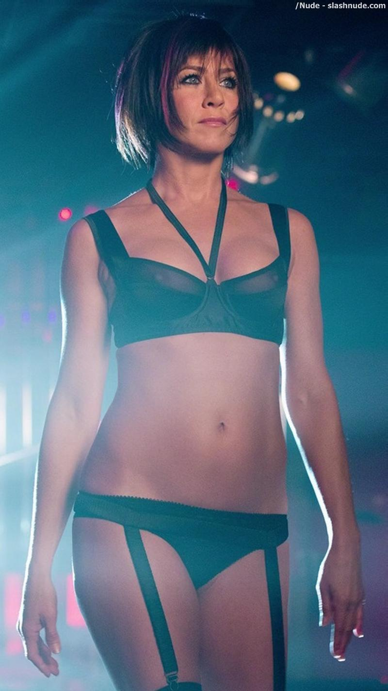 This image of Jennifer Aniston Nipples See Through Bra Stripper above ...