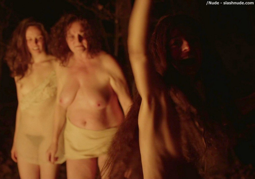 Kate Micucci Jemima Kirke Aubrey Plaza Topless In Little Hours 16