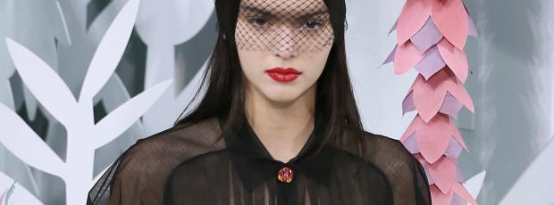 kendall jenner bares breasts in see through on runway 5970