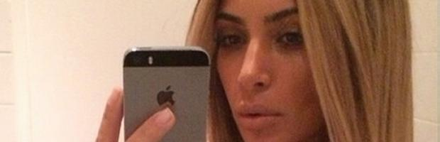 kim kardashian nipple flashed in wig selfie 3047