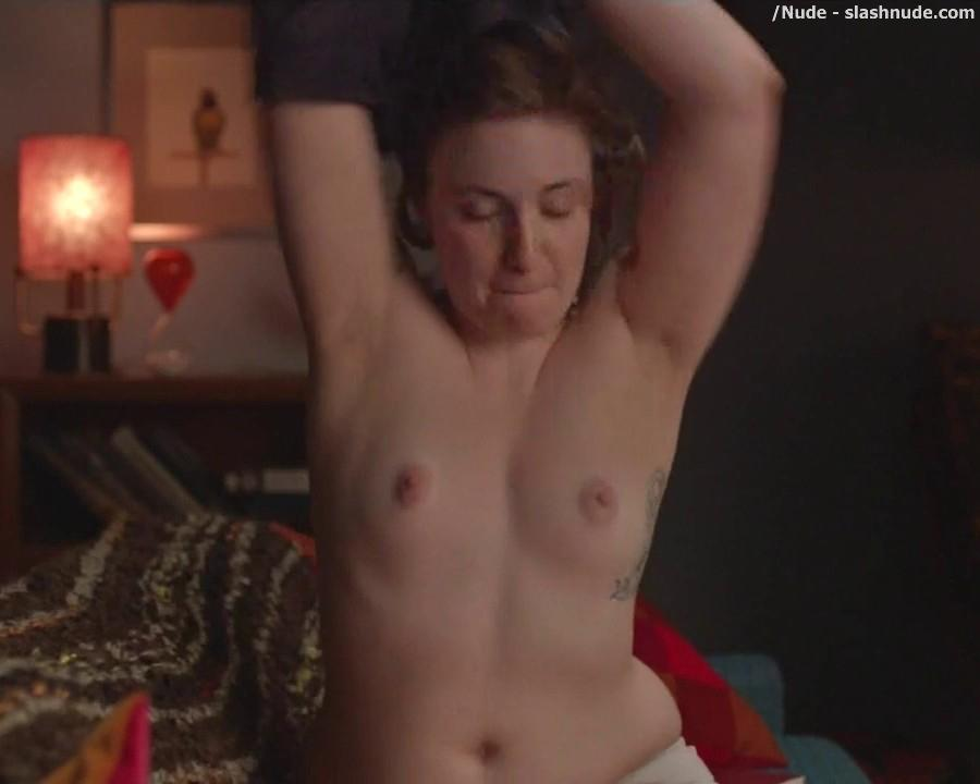 Lena Dunham Topless For A Cell Phone Photo Pose 4
