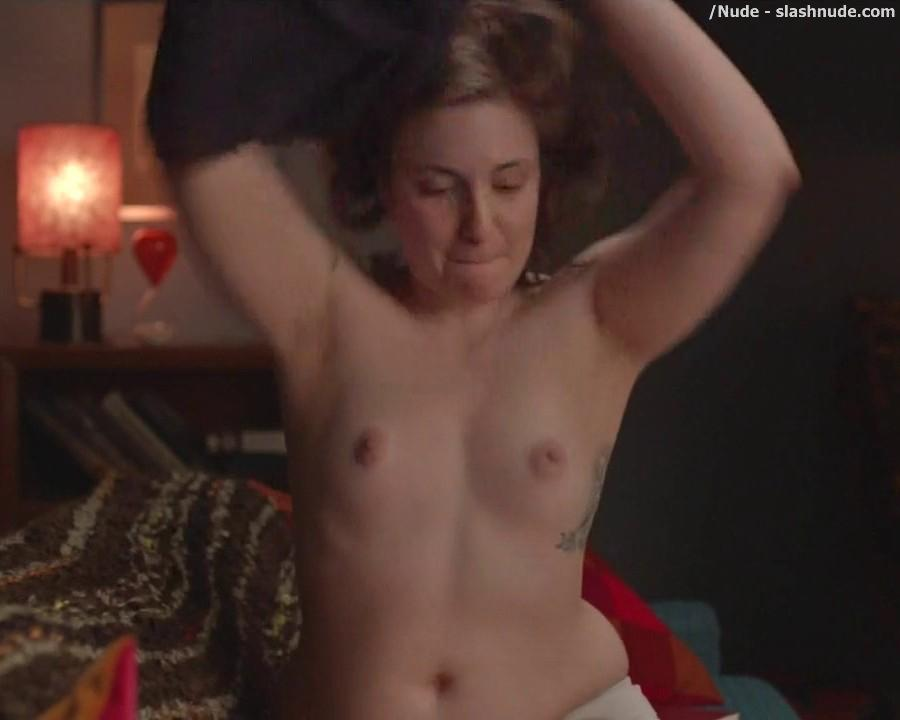 Lena Dunham Topless For A Cell Phone Photo Pose 5
