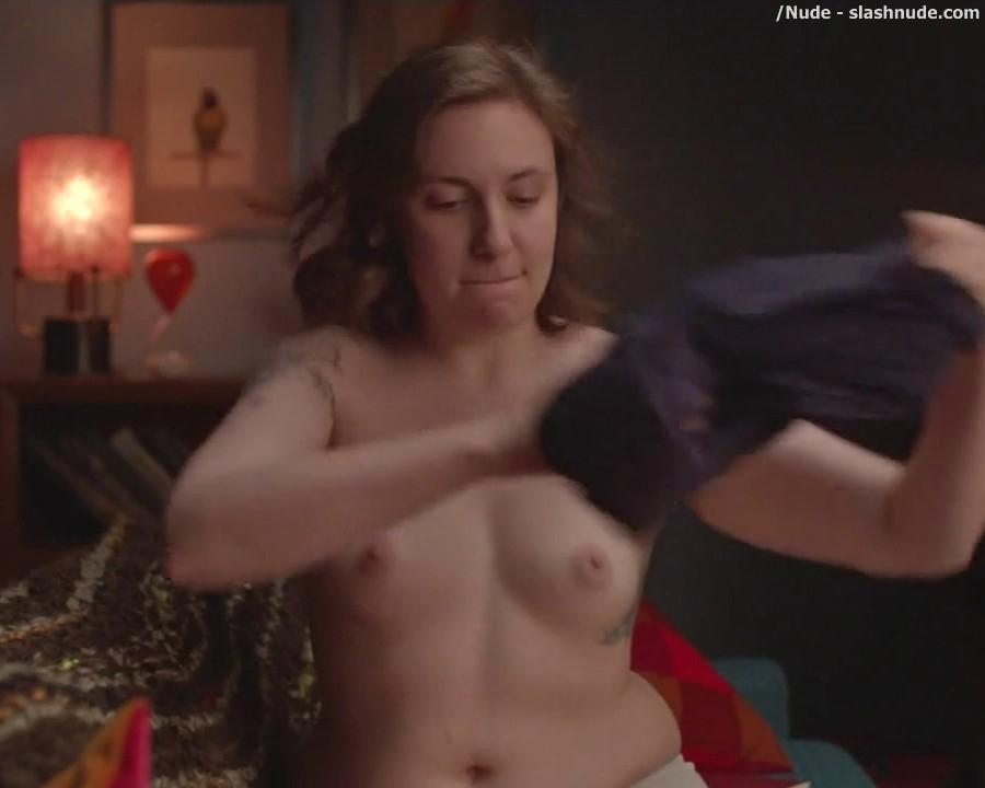 Lena Dunham Topless For A Cell Phone Photo Pose 6