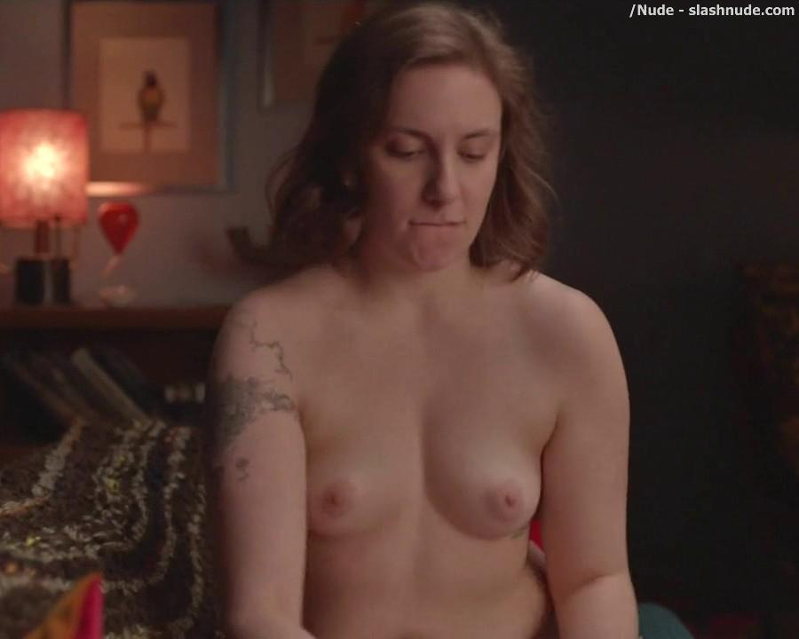Lena Dunham Topless For A Cell Phone Photo Pose 7