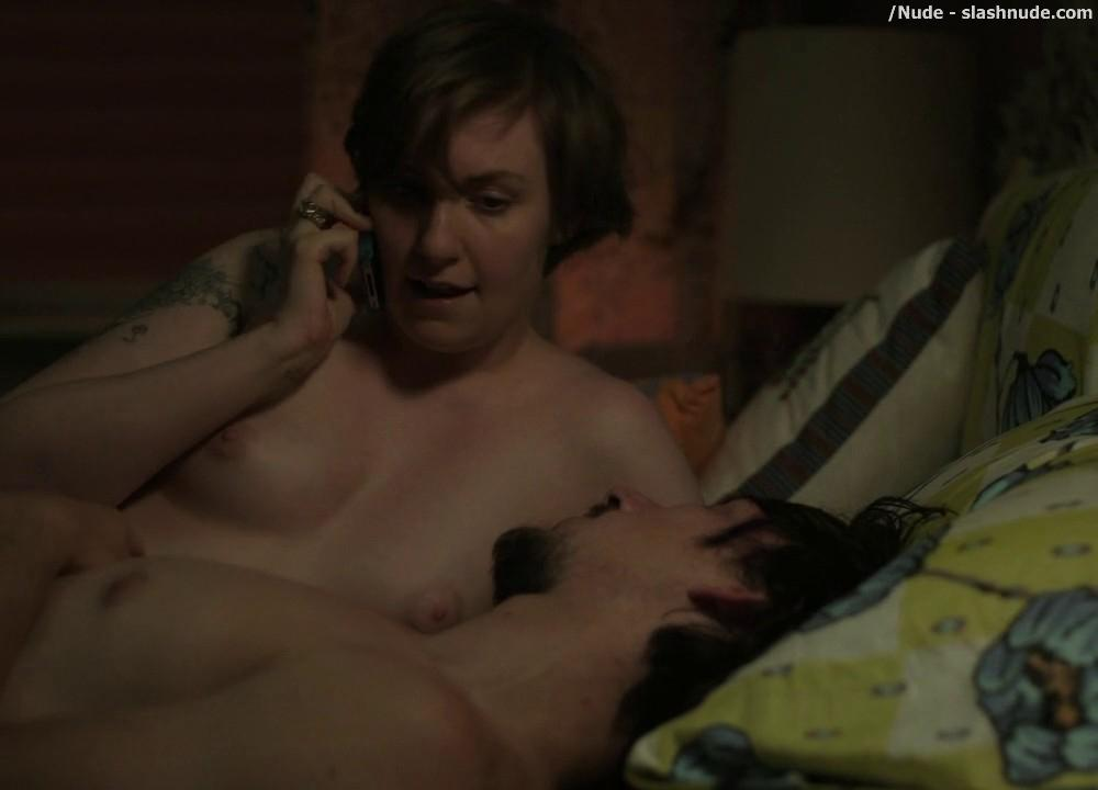 Lena Dunham Topless For Pillow Talk Interruption On Girls 13