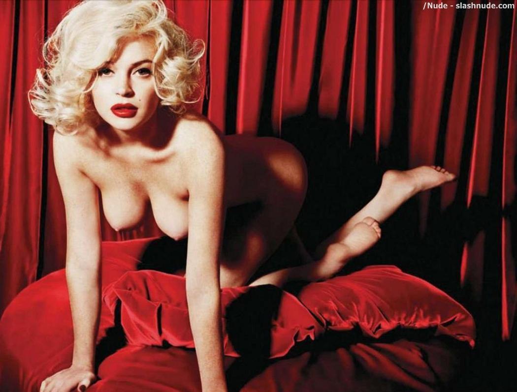 Lindsey Lohan nackt Marilyn Monroe Fotoshooting