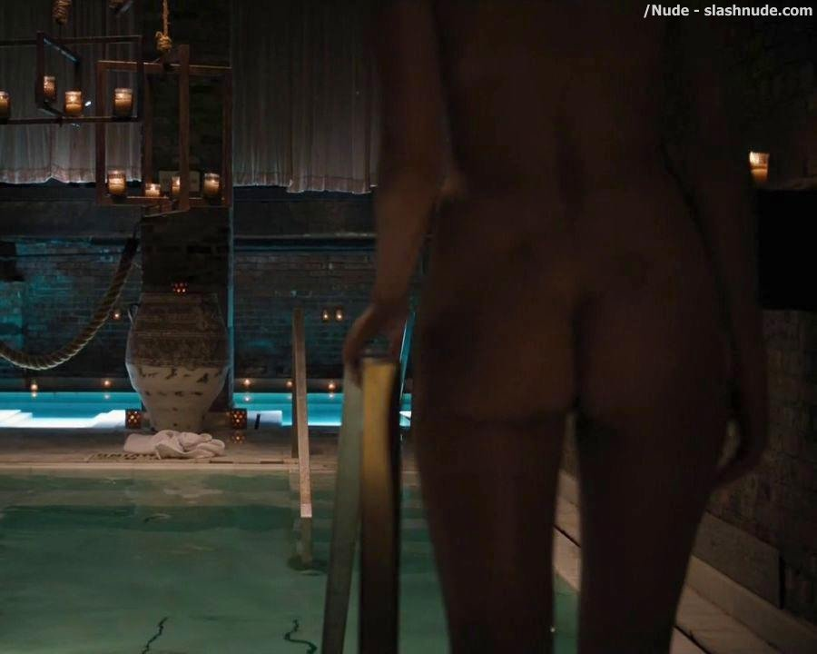 Maggie Siff Nude Ass Bared For Swim On Billions 4