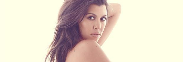 pregnant kourtney kardashian nude baring nipples in dujour 1783