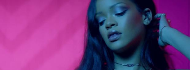 rihanna bare breasts star in work music video with drake 7062