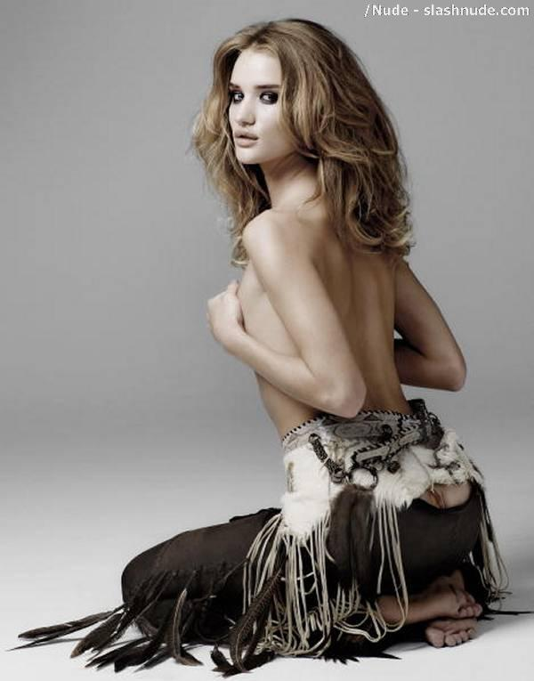 Rosie Huntington Whiteley Topless Is Smoking 2