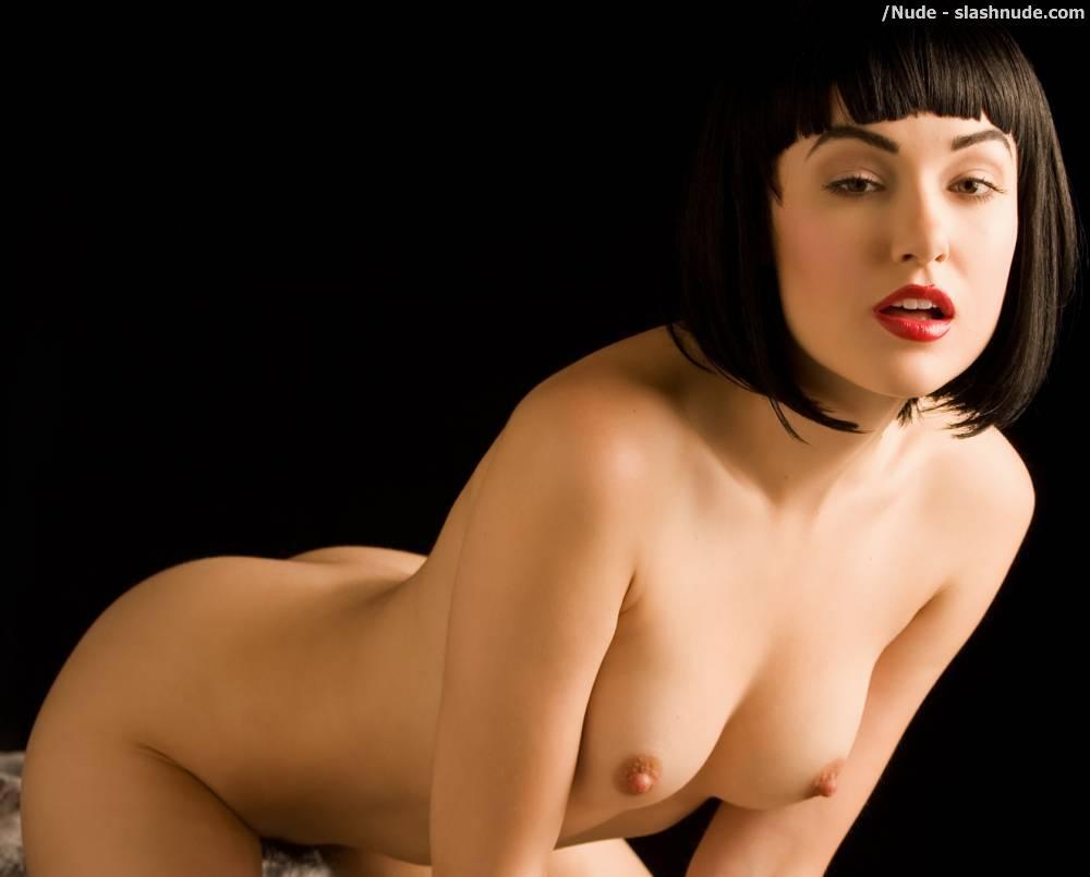 Nude girl with vibrators