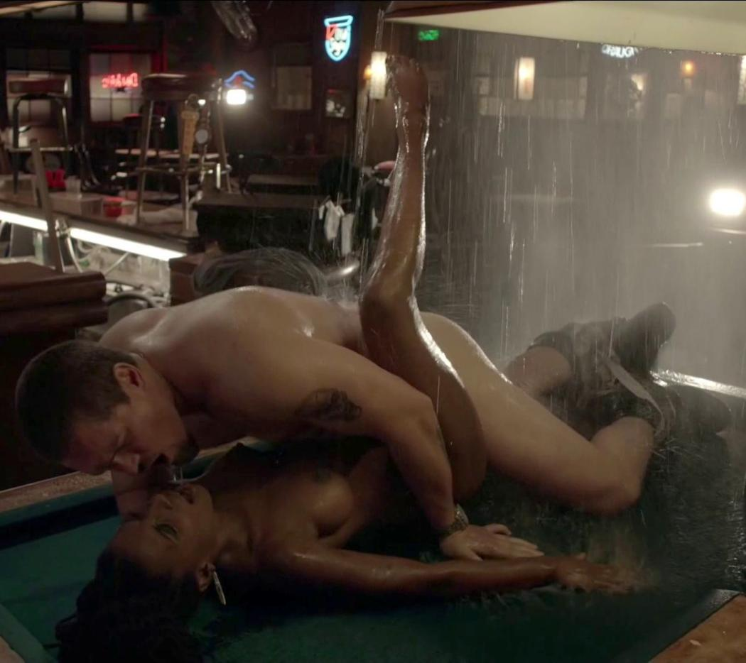 Shanola hampton sex on a pool table in shameless series nude (48 photos), Topless Celebrity image