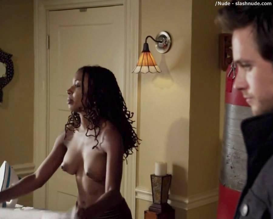 Shanola Hampton Topless Ironing On Shameless 7