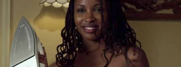 shanola hampton topless ironing on shameless 2394