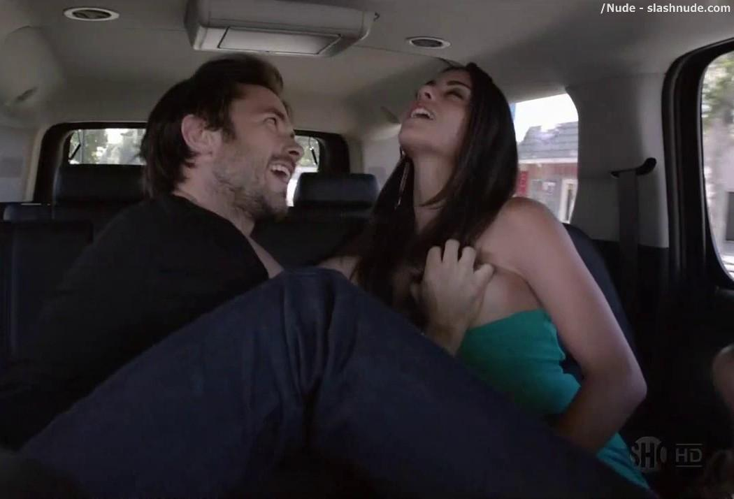 Stephanie Fantauzzi Topless For Car Ride On Shameless 6