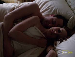 alexis bledel topless tease on mad men 5874 1