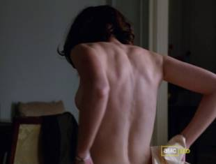 alexis bledel topless tease on mad men 5874 8