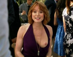 alicia witt topless breast out on house of lies 9935 14