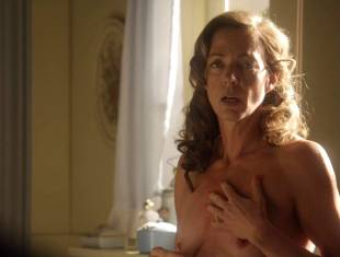 allison janney topless in bathroom on masters of sex 3118 7