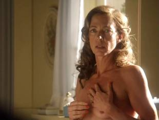 allison janney topless in bathroom on masters of sex 3118 9